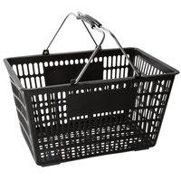 Regency Black 18 3/4 inch x 11 1/2 inch Plastic Grocery Market Shopping Basket