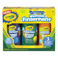 Crayola 551311 8 oz. 3 Color Assorted Washable Finger Paint
