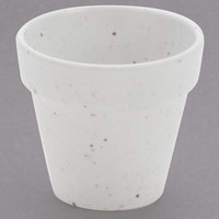 American Metalcraft MELPOTC2 2 oz. Terra Cotta Speckled White Melamine Pot