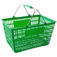 Regency Green 18 3/4 inch x 11 1/2 inch Plastic Grocery Market Shopping Basket