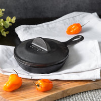 Lodge H5MS 5 inch Pre-Seasoned Heat-Treated Mini Cast Iron Skillet with Lid
