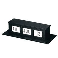 MMF Industries 286074131 Black Single-Faced Desk / Counter Perpetual Calendar
