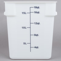 18 Qt. White Square Food Storage Container
