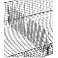 Metro QB12D qwikSIGHT Front to Back Wire Basket Divider - 12 inch x 6 inch
