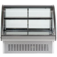 Vollrath 40842 36 inch Curved Glass Drop In Refrigerated Countertop Display Cabinet