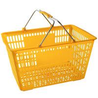 Regency Yellow 18 3/4 inch x 11 1/2 inch Plastic Grocery Market Shopping Basket