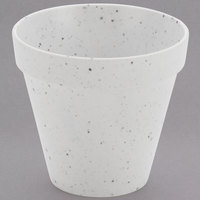 American Metalcraft MELPOTC14 14 oz. Terra Cotta Speckled White Melamine Pot