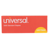Universal UNV79000VP 210 Strip Count Standard Chisel Point 5000 Staple Box   - 5/Pack