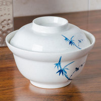 Thunder Group 3201BB Blue Bamboo 20 oz. Round Melamine Noodle Bowl - 12/Case