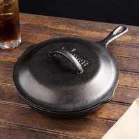 Lodge L6SK3 9 inch Pre-Seasoned Cast Iron Skillet with Lid