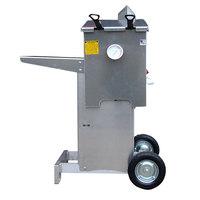 R & V Works FF2-R-AL-ST Aluminum 4 Gallon Liquid Propane Outdoor Cajun Deep Fryer with Stand - 90,000 BTU