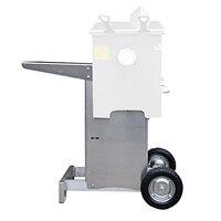 R & V Works FF2-T-AL Aluminum Mobile Fryer Stand