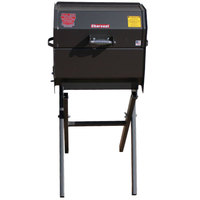 R & V Works SCGJrCS Cajun Smokin' Junior Charcoal Grill with Folding Stand