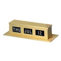 MMF Industries 286074228 Gold Double-Faced Desk / Counter Perpetual Calendar