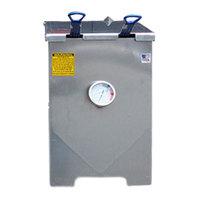 R & V Works FF2-S-AL Aluminum 6 Gallon Liquid Propane Outdoor Cajun Deep Fryer - 90,000 BTU