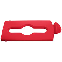 Rubbermaid 2007195 Slim Jim Recycling Red Hinged Mixed Recycling Lid Insert