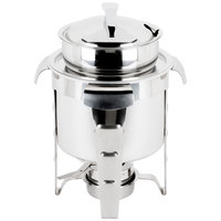 Vollrath 49523 4.2 qt. Maximillian Steel Soup Marmite with Stainless Steel Accents