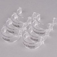 GET CLIPS-8-PC-CL Salad Dressing Label Clips for SDB Dressing Bottles - 8/Pack