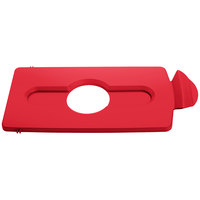 Rubbermaid 2007193 Slim Jim Recycling Red Hinged Bottle Lid Insert