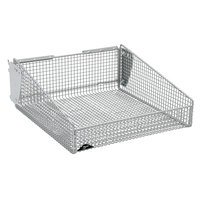 Metro QB1818B qwikSIGHT 18 inch x 18 inch Wire Basket with Mounting Brackets