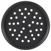American Metalcraft PHC2014 14 inch Perforated Hard Coat Anodized Aluminum Tapered / Nesting Pizza Pan