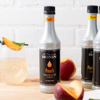 Monin 375 mL Peach Concentrated Flavor