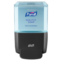 Purell 5080-1G Healthy Soap® ES4 1200 mL Black Manual Hand Soap Dispenser with Foodservice 1200 mL Refill