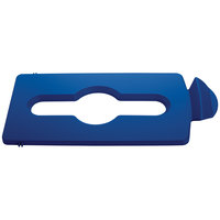 Rubbermaid 2007891 Slim Jim Recycling Blue Hinged Mixed Recycling Lid Insert