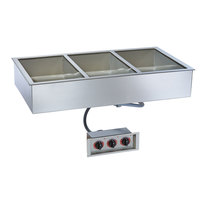 Alto-Shaam 300-HWI/D6 3 Pan Drop-In Hot Food Well for 6 inch Deep Pans - 120V