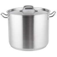 32 Qt. Heavy-Duty Stainless Steel Stock Pot with Cover
