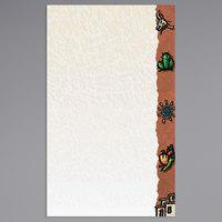 8 1/2 inch x 14 inch Menu Paper Right Insert - Southwest Themed Desert Design - 100/Pack