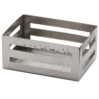 American Metalcraft SPH 3 1/2 inch x 2 1/2 inch Rectangular Hammered Stainless Steel Sugar Caddy