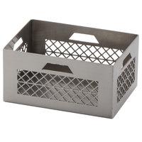 American Metalcraft SPC3 3 1/2 inch x 2 1/2 inch Rectangular Stainless Steel Sugar Packet Milk Crate