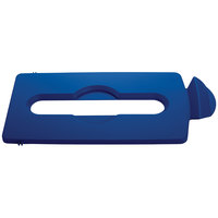 Rubbermaid 2007890 Slim Jim Recycling Blue Hinged Paper Lid Insert