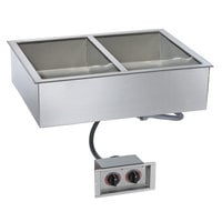 Alto-Shaam 200-HWI/D443 4/3 Size 2 Pan Drop-In Hot Food Well for 4 inch Deep Pans - 208-240V