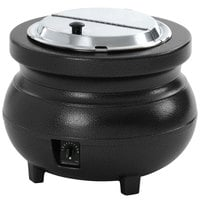 Vollrath 72165 11 Qt. Soup Warmer Kettle Black - 120V, 650W