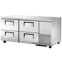 True TUC-67D-4 67 inch Deep Undercounter Refrigerator with Four Drawers