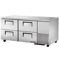 True TUC-67D-4 67 inch Extra Deep Undercounter Refrigerator with Four Drawers