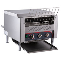Avatoast T3600B Commercial 14 1/2 inch Wide Conveyor Toaster with 3 inch Opening - 208V, 3600W, 1200 Slices per Hour