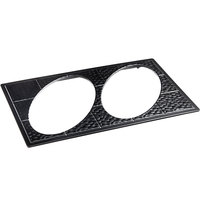 GET ML-191-BK Full Size Black Melamine Adapter Plate with Two Cut-Outs holds ML-182 1.5 Qt. Oval Casserole Dishes