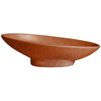 G.E.T. Enterprises BO204T Bugambilia 1.4 Qt. Classic Textured Finish Terracotta Resin-Coated Aluminum Deep Large Oval Sphere