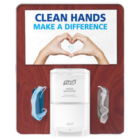 Purell 7399-HB-MPL Messenger Floor Stand Hygiene Bracket Panel - Maple