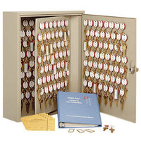 MMF Industries 2018120D03 Steelmaster Dupli-Key Sand-Colored Two-Tag 120-Key Cabinet with Dual-Control Lock