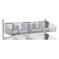 Metro QB36LHC 36 inch x 1 1/4 inch Clear Label Holder