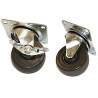 True 872065 3 inch Swivel Plate Casters - 4 / Set