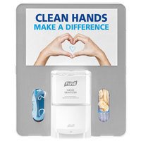Purell 7399-HB-SLV Messenger Floor Stand Hygiene Bracket Panel - Silver