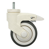 Metro QB4B qwikSIGHT 4 inch Polyurethane Stem Caster with Brake