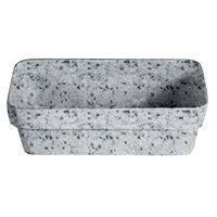 G.E.T. Enterprises BUD33G Bugambilia Classic Textured Finish Grey Granite Resin-Coated Aluminum Rectangular Buffet Bowl