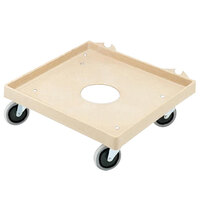 Vollrath 52292 Plastic Tan Rack Dolly Base (No Handle) - 20 inch x 20 inch