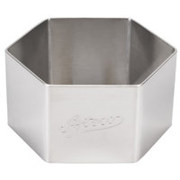 Ateco 4910 2 1/4 inch Stainless Steel Hexagon Form (August Thomsen)